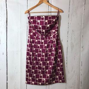 Banana Republic Sleeveless Geometric Print Dress